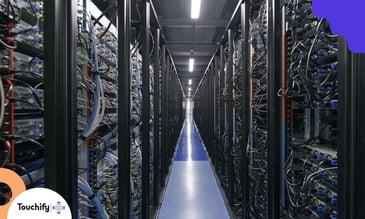 Photo du centre de données Scaleway DC4 où sont hebergés certains services de Touchify