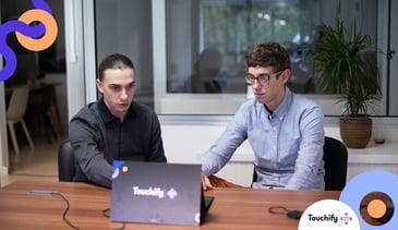 Photo de Maxime et Anthony, co-cofondateurs de Touchify